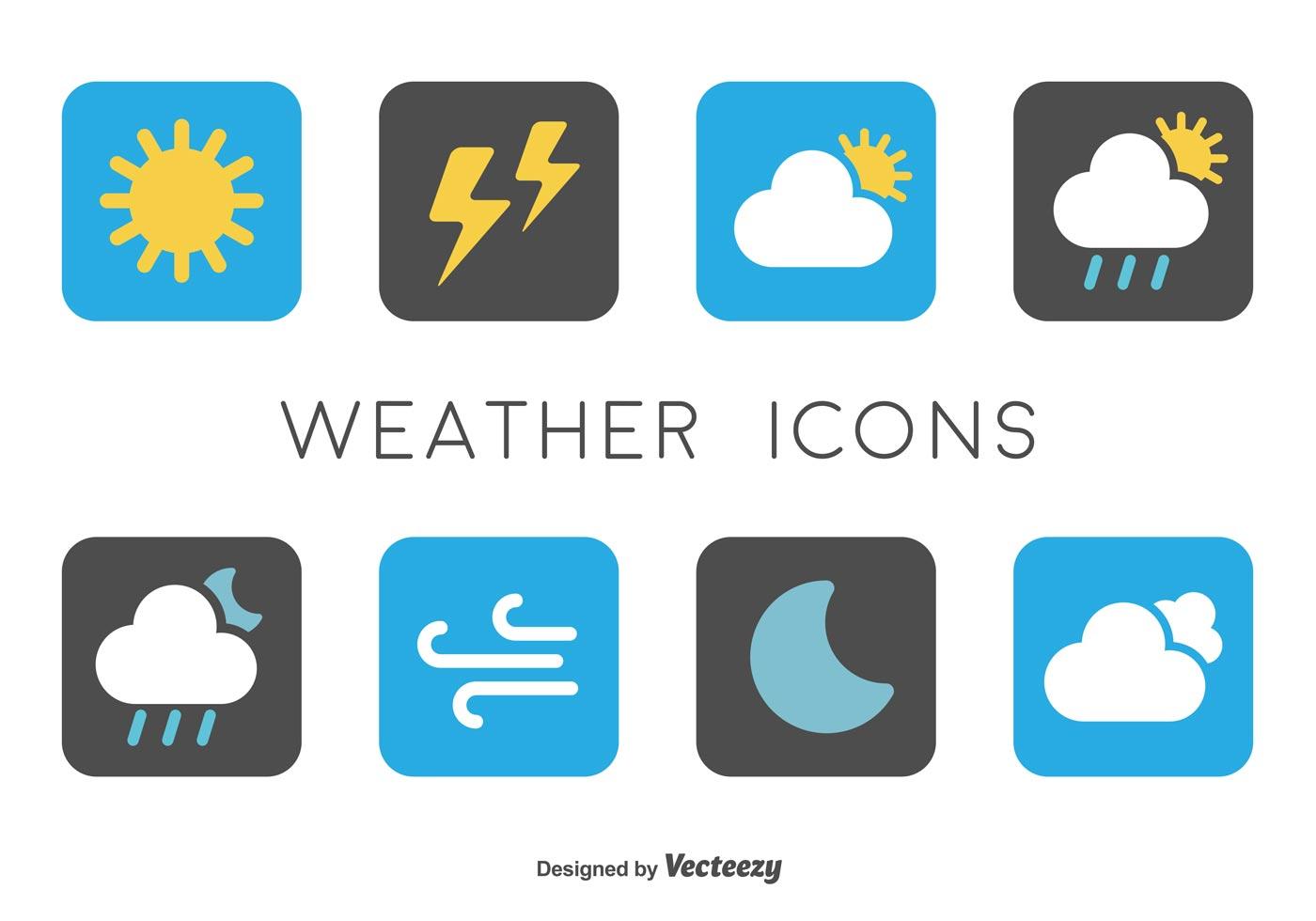 90936 Minimal Weather Icons on Weather Forecast Symbols