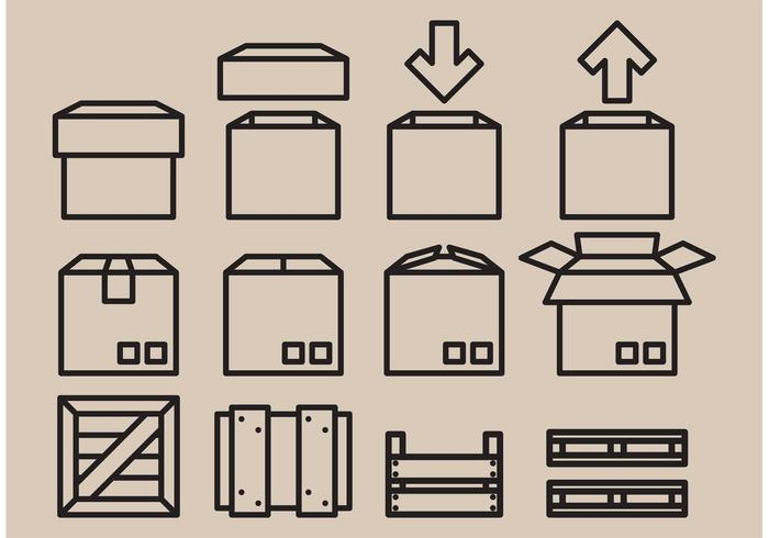 Vector Crates Icons