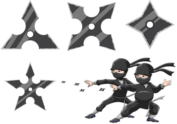 Ninja's Star Vectors