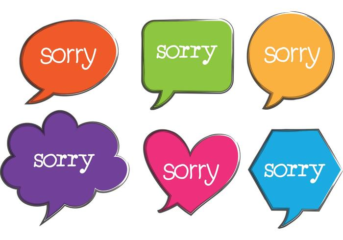 Sorry Speech Bubble Vectors