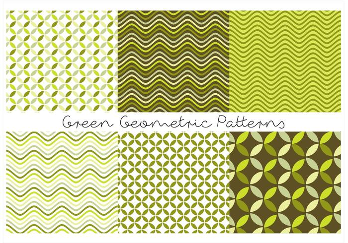 Green Geometric Patterns vector