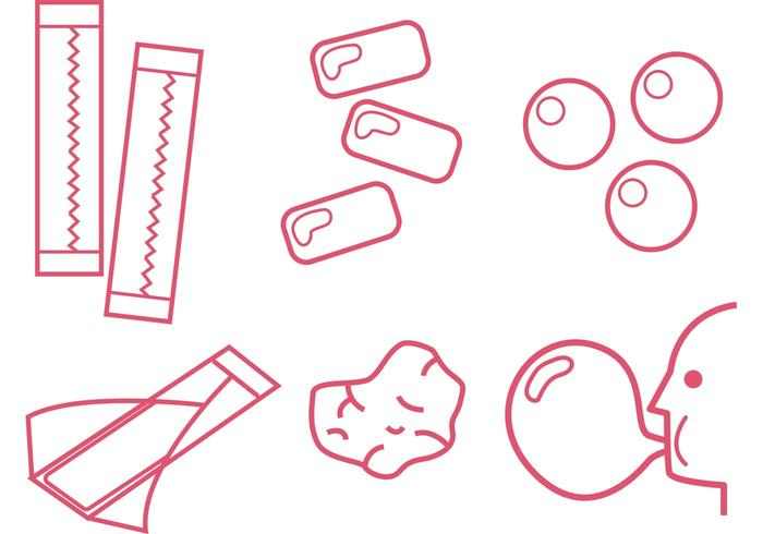 Bubblegum Outline Vectors