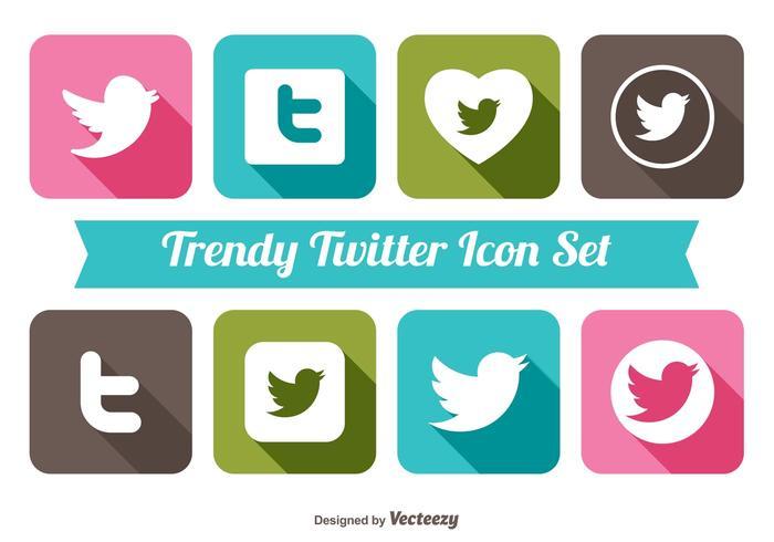 Ensemble d'icônes à la mode de Twitter