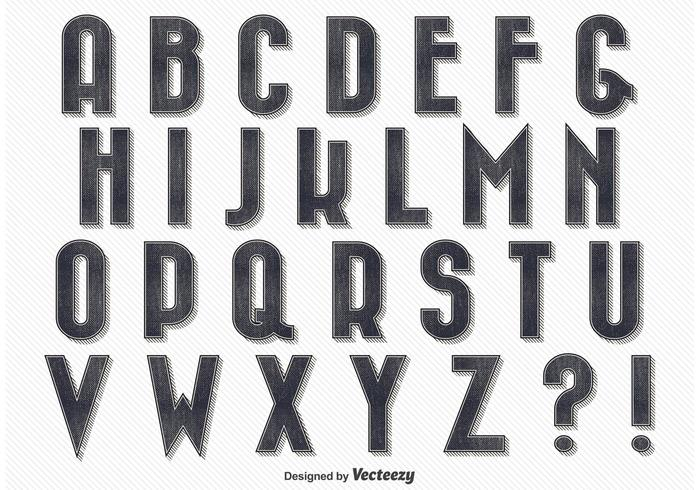Alfabeto Estilo Vintage