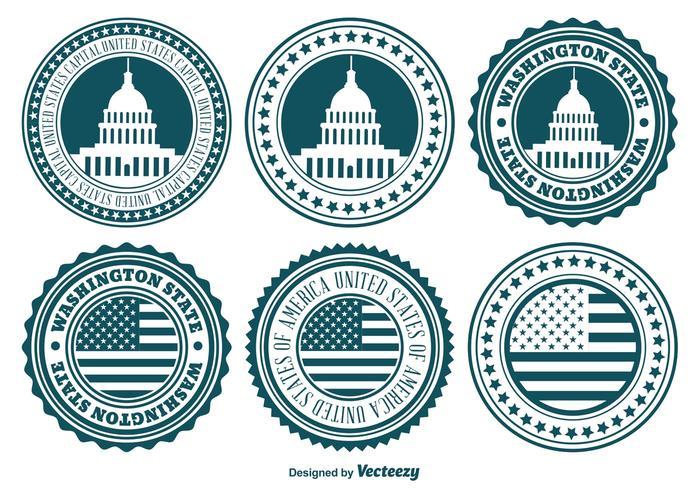 US Badge Set