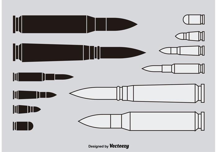 Shotgun Shells Silhouettes vector