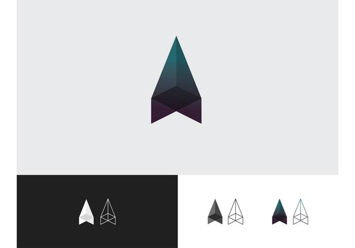 Lowpoly Gradient Vector Icon Set