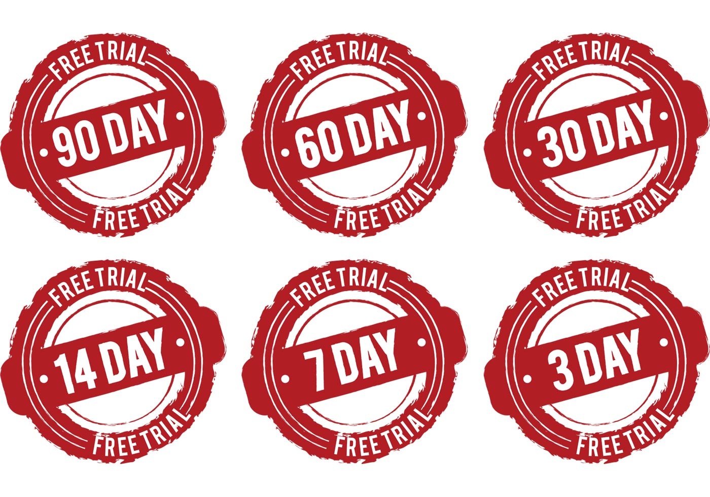 day free trial vectors