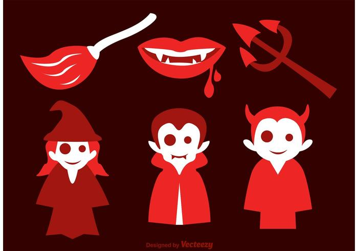 Evil Halloween Vector Icons