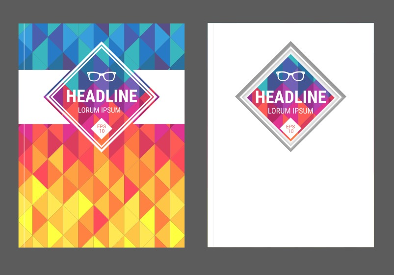 Free Vector Geometric Magazine Covers Download Free