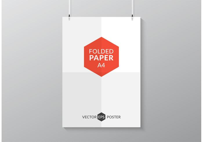Free Folded Paper Poster Vector