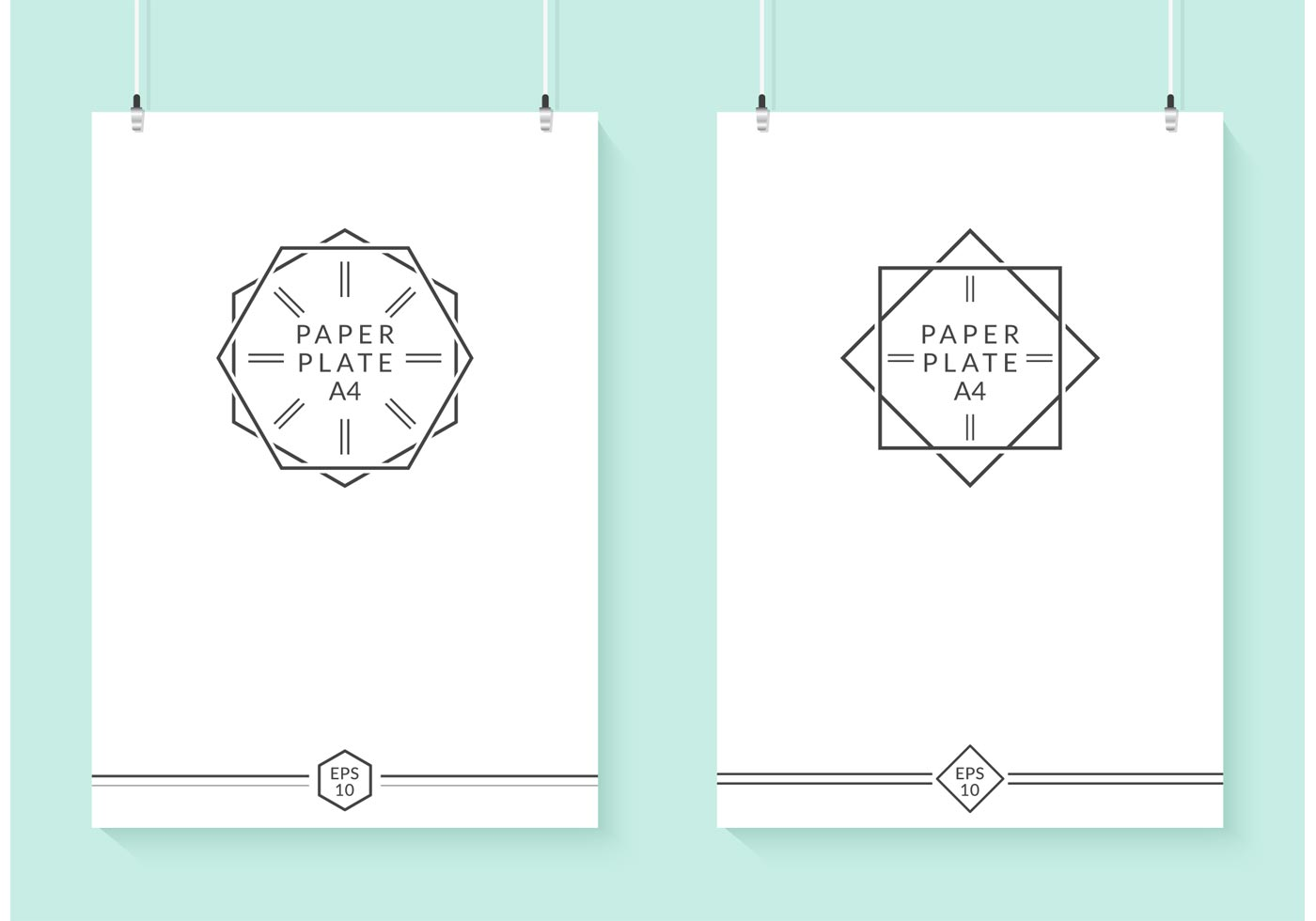 free hanging vector paper plates