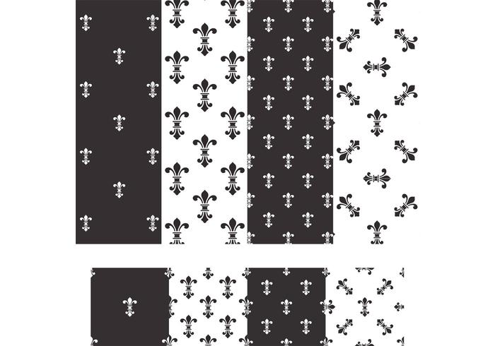 Free Fleur De Lis Vector Seamless Patterns