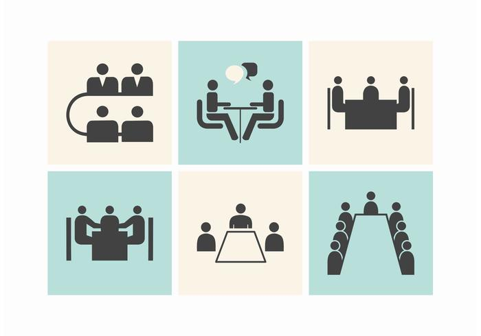 Round table meeting icon - Free Business Meeting Tables Vector Icons Download Free