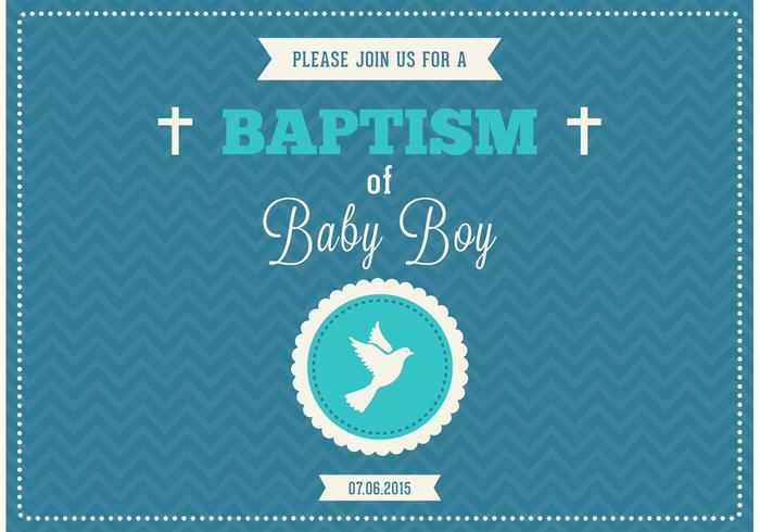 baby boy baptism vector invitation download free vector art stock