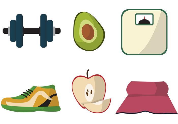 Diät-Themed-Vektor-Set