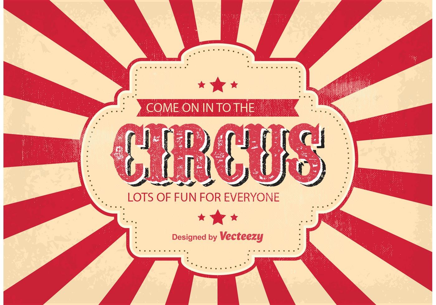 Vintage Circus Vector Ticket Background - Download Free Vector Art ...