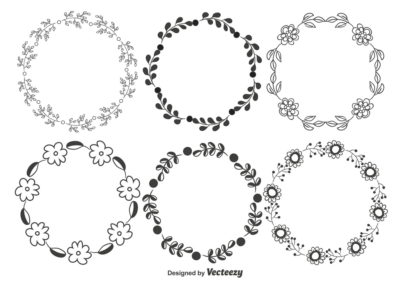 Decorative Floral Frame Set - Download Free Vector Art, Stock ...