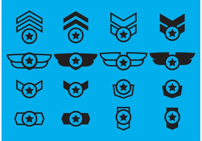 Winged Military Badge Vectors