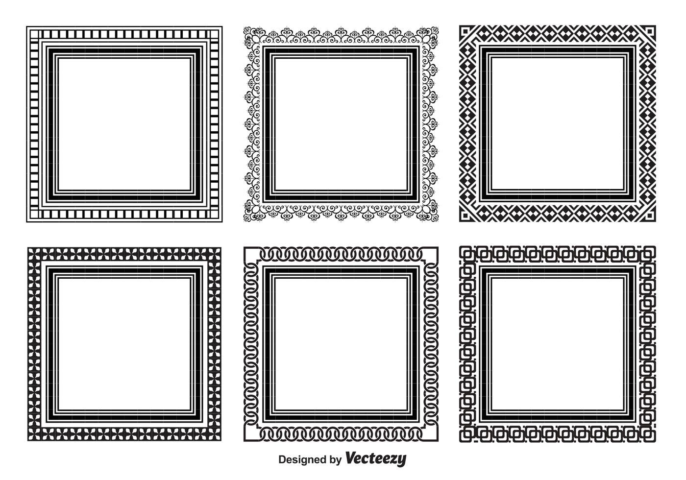 Decorative Square Frame Set - Download Free Vectors ...Fancy Square Frame