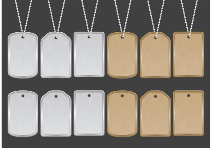 Dog Tag Vectors