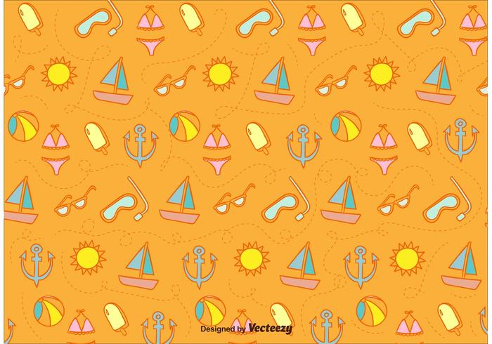 Sunny Beach Icons Pattern