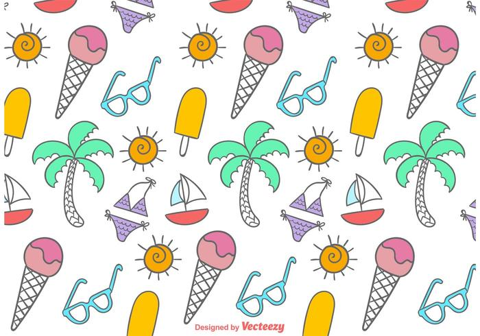 Doodles Beach Time Pattern