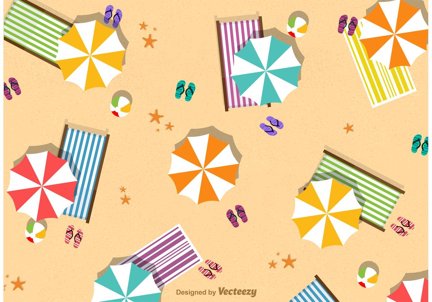 Summer Beach Umbrella Vector - Download Free Vector Art ...