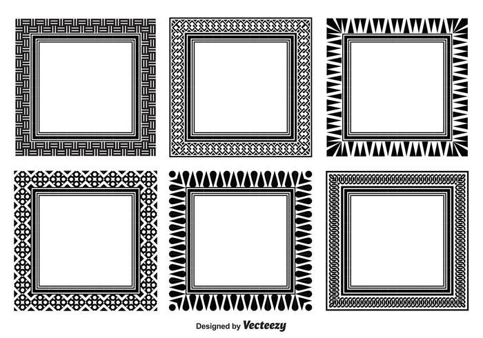 Verschiedene Dekorative Rahmen Set vektor