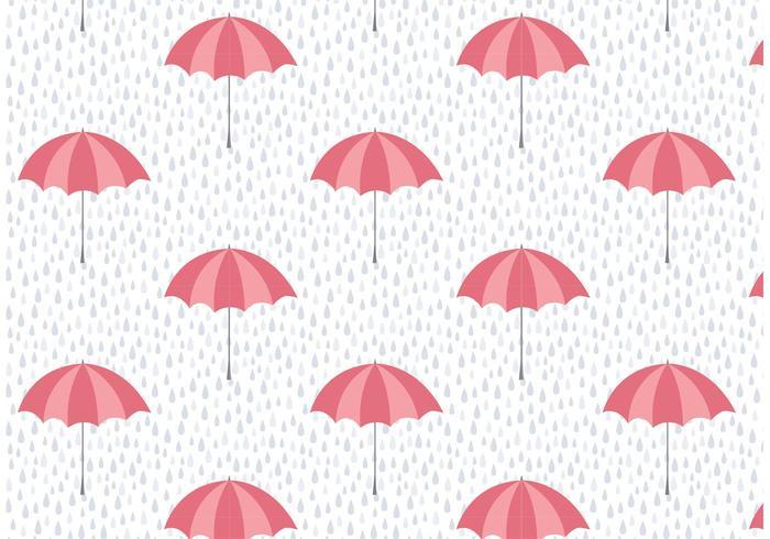 Umbrella and Rain Vector Pattern