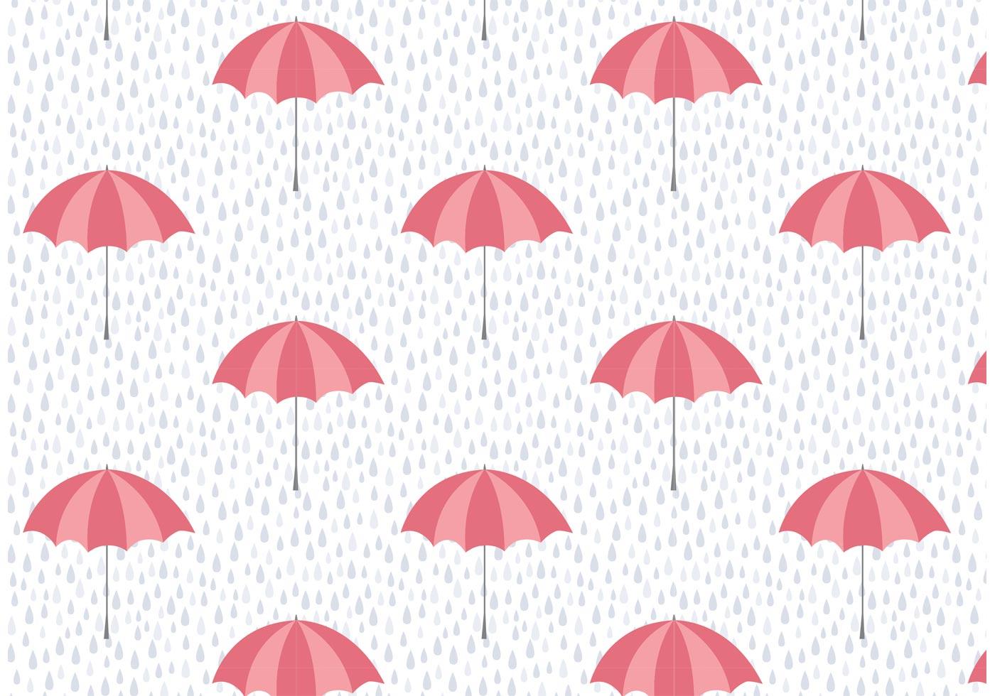 umbrella and rain vector pattern download free vector