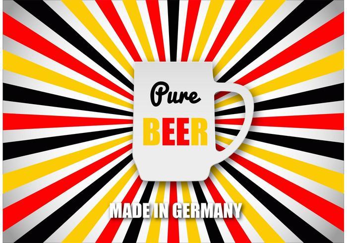 Freies Bier Konzept Vektor