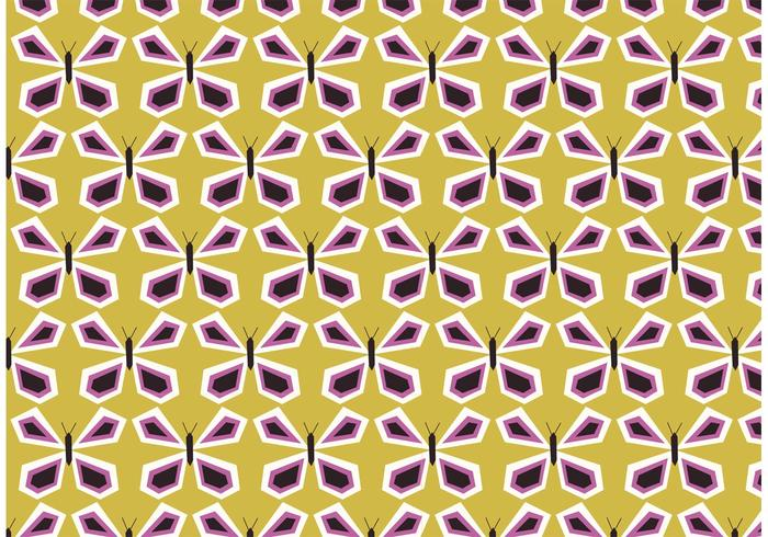 Retro Butterfly Vector Pattern