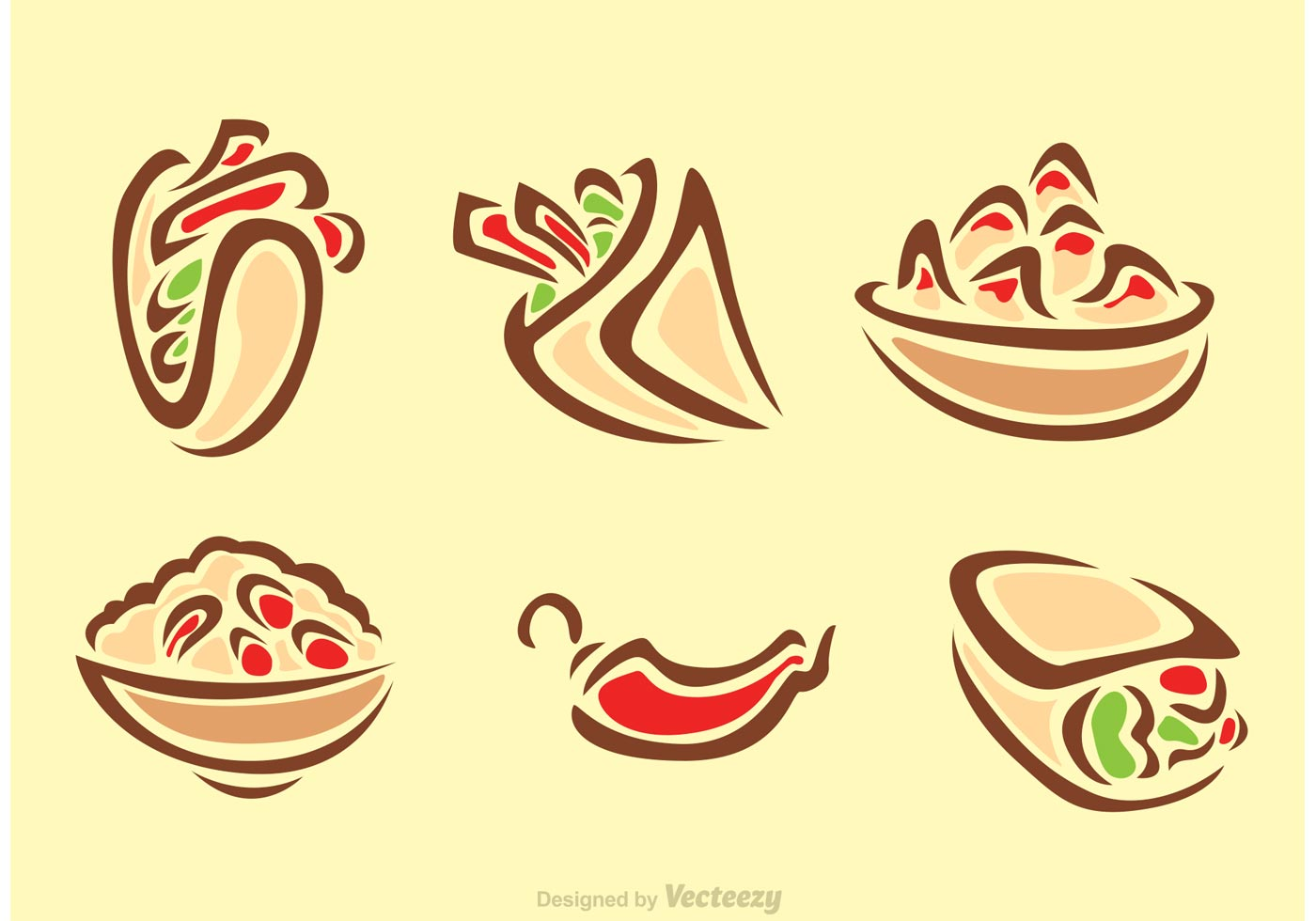 Stylish mexican food icons download free vector art for Mexican logos images