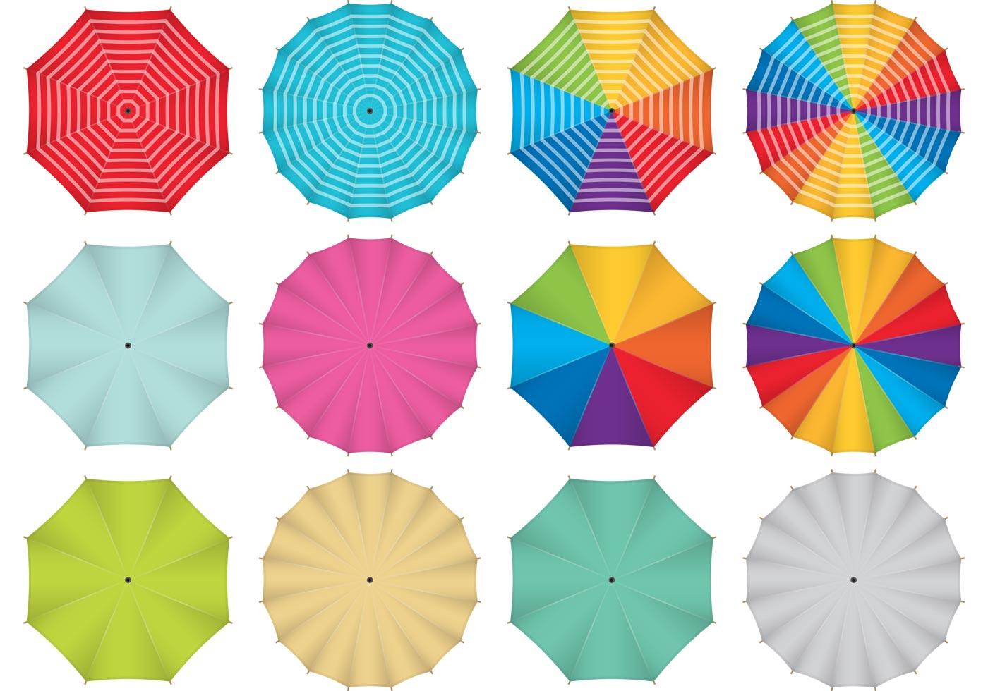 Colorful Vector Umbrellas Download Free Vector Art