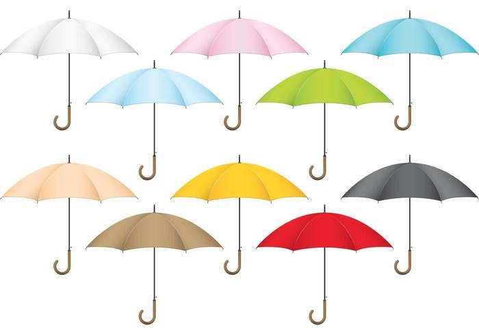 Colorful Vector Umbrellas