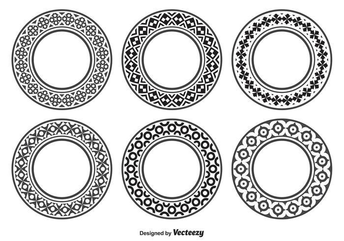 Formas decorativas del círculo vector