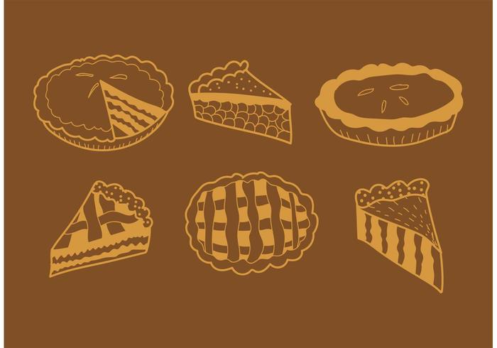 Hand Drawn Apple Pie Vectors