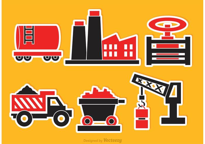 Iconos De Vector Industrial