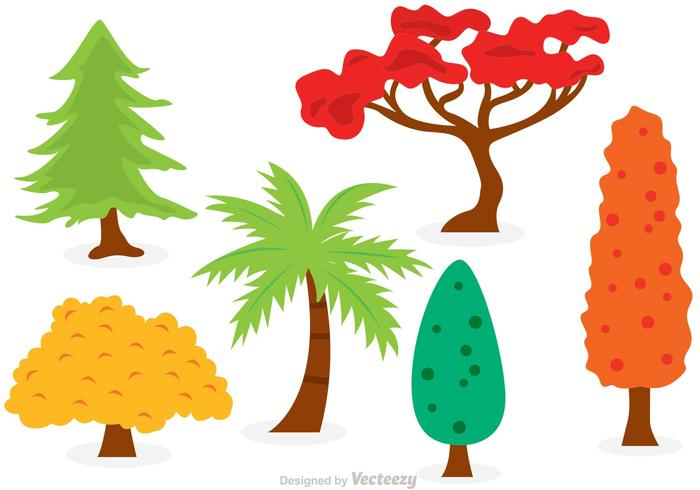 Cartoon Trees Vector Set