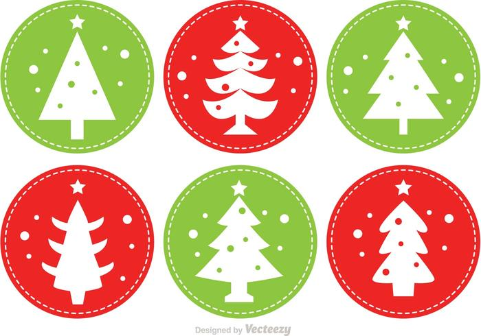 Stitched Christmas Tree Vectors