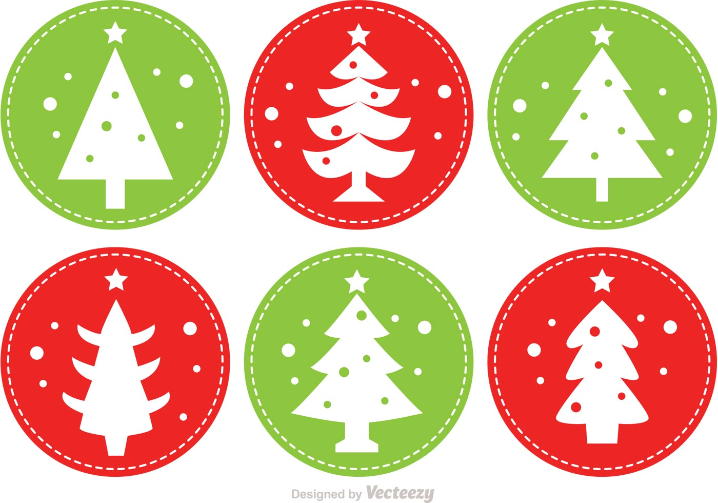 Cosido árboles De Navidad Vectores