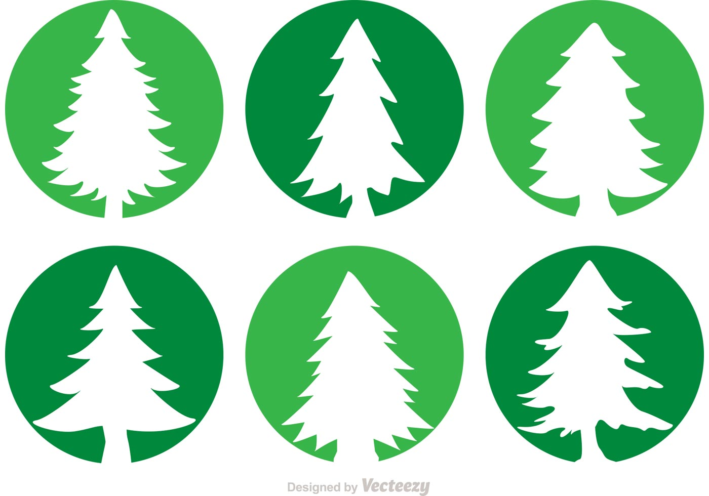 Cedar Trees Circle Vector Icons - Download Free Vector Art, Stock ...