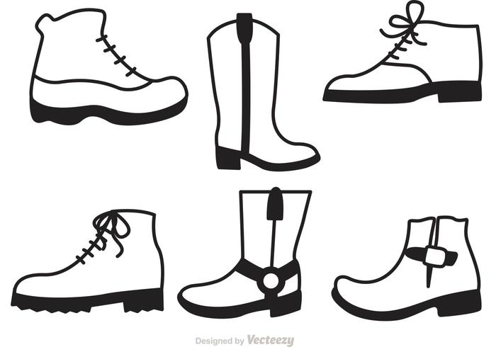 Man Shoes Icons Set