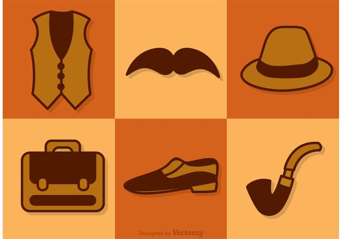 Retro Male Accessories Vectors