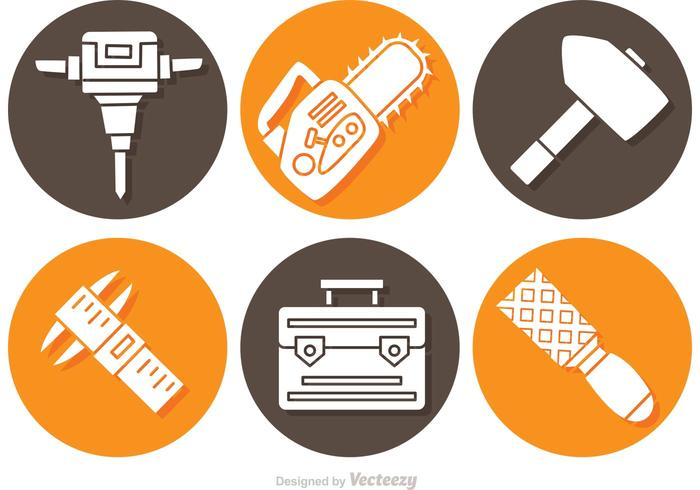 Construction Object And Tools Icons