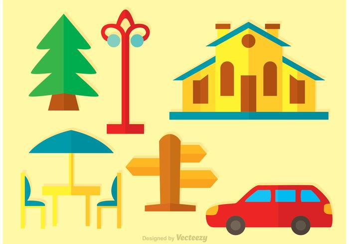 Flat House Vector Icons