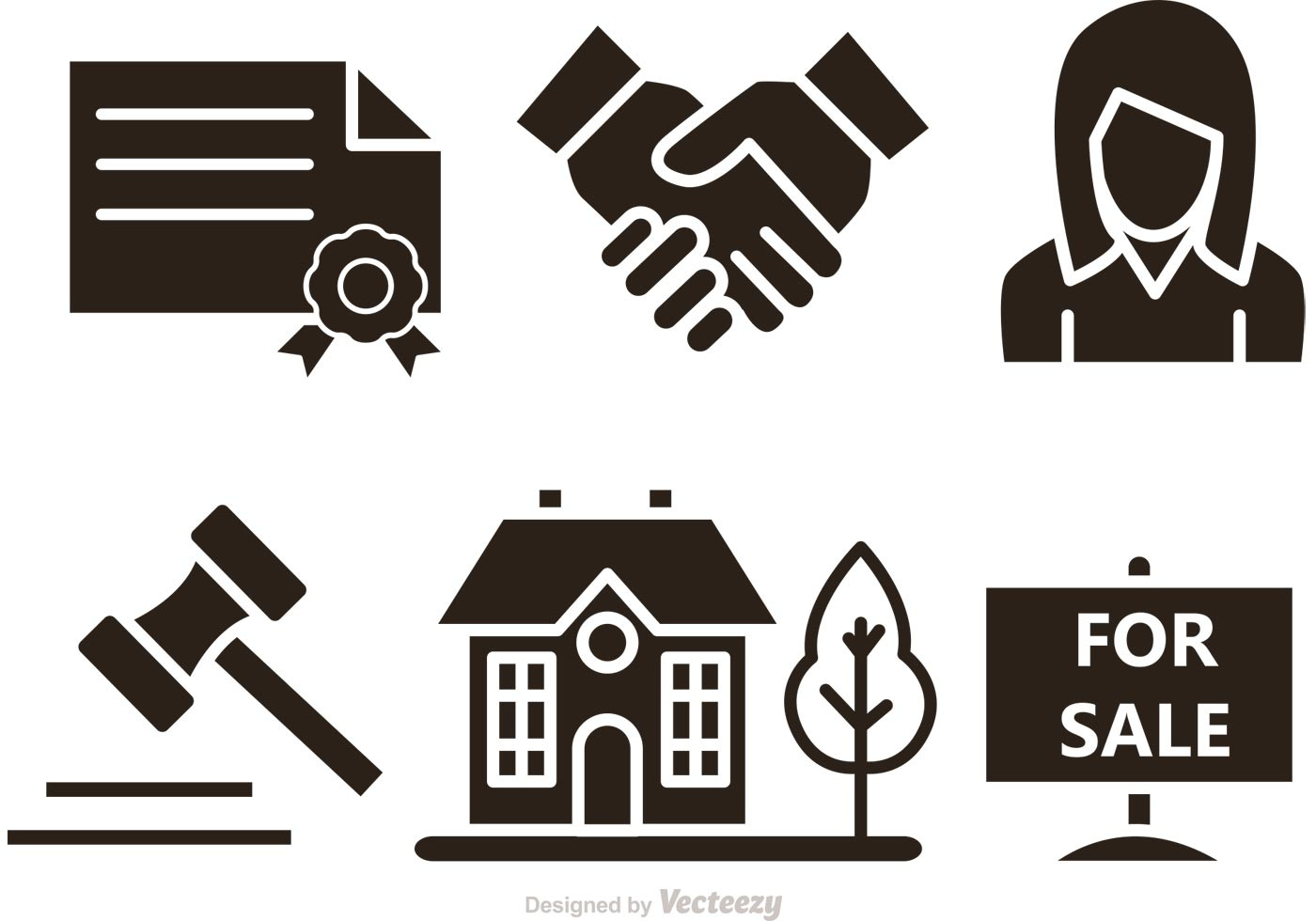 Real Estate Icon : Real estate vector icons download free art stock