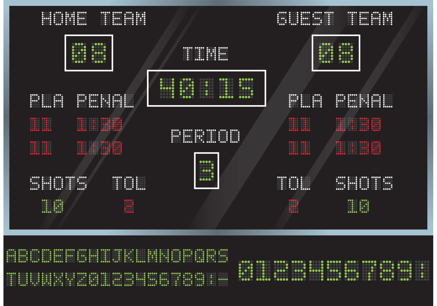 hockey score board vector