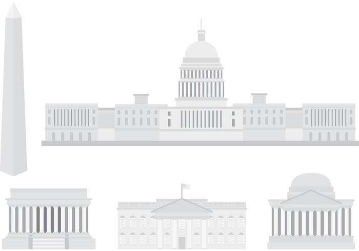 US Capital Building Vectors